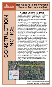 Bee Ridge Rd Const e-Notice